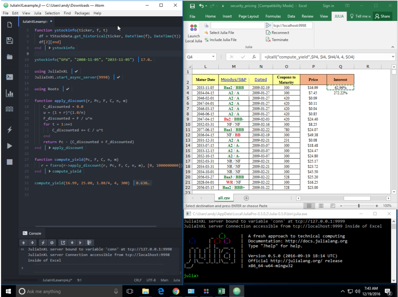 Algorithmic Trading with Julia – Julia Computing